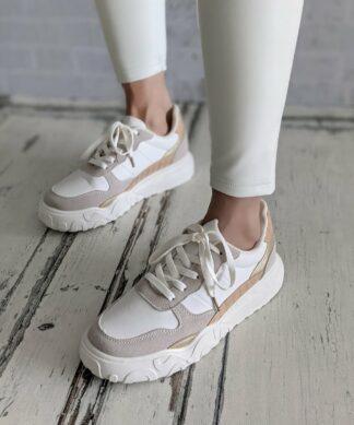 Sneaker FLATFORM – beige- white