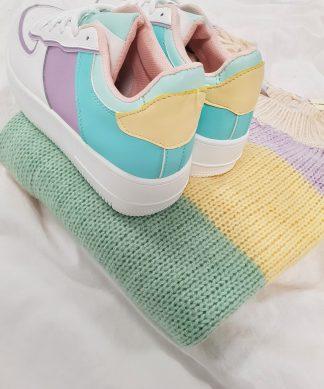Sneaker MULTICOLOUR lila-türkis-gelb
