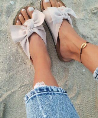 Pantolette Boucle – beige