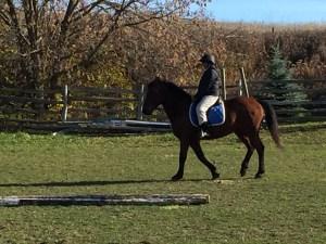 Rainie on her test ride.