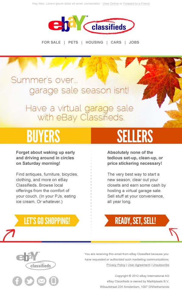 Ebay Classifieds Luckyredpixel Email Marketing Made Wonderful