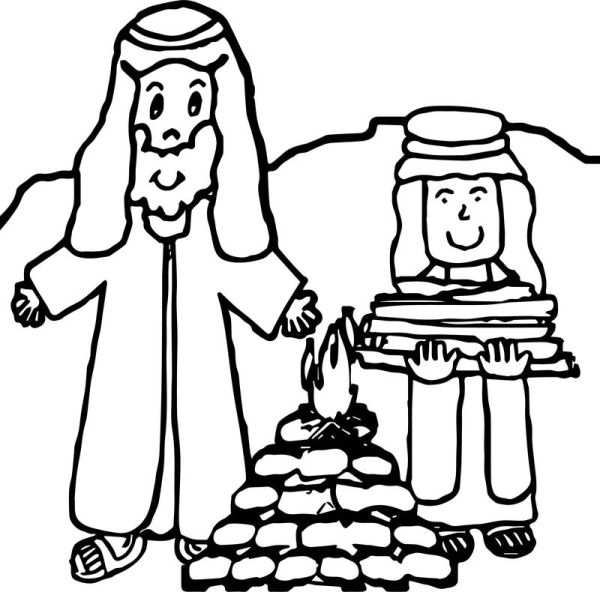 abraham and sarah coloring pages # 43