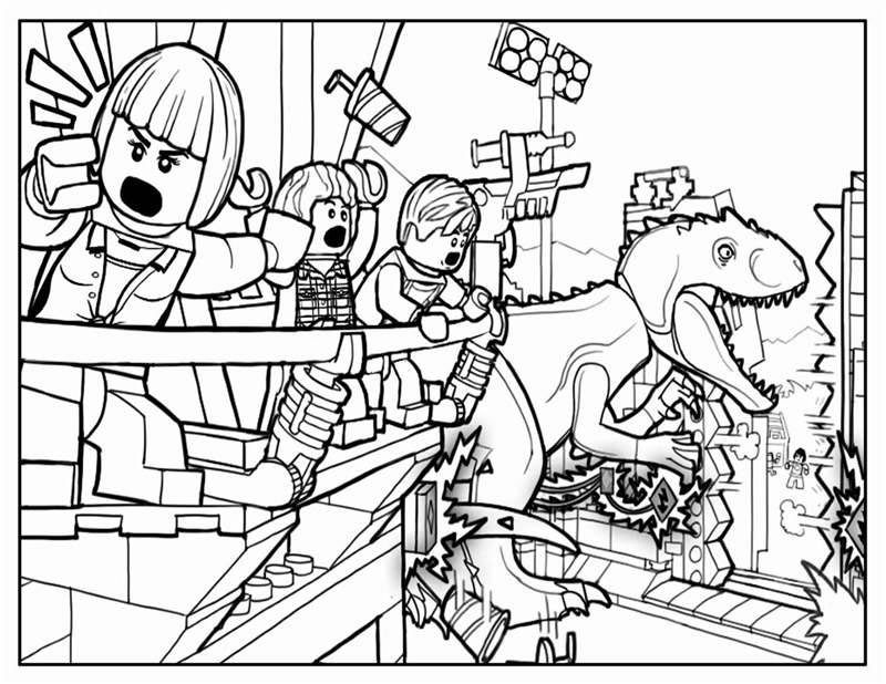 lego jurassic world movie coloring page  coloring sheets