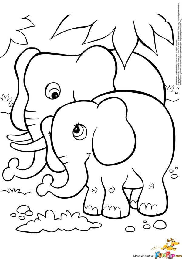 coloring pages of elephants # 62