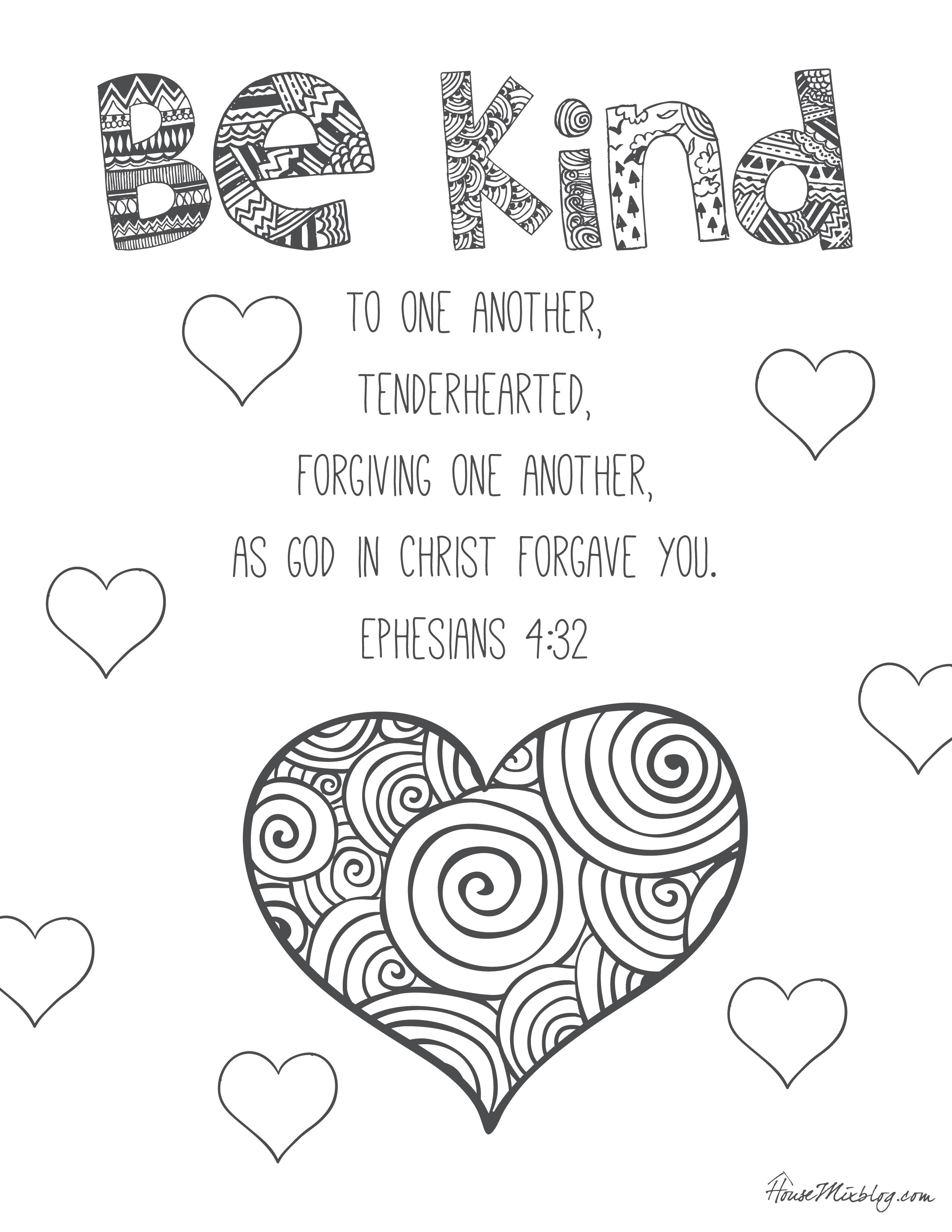 29 Kindness Coloring Pages Printable Download