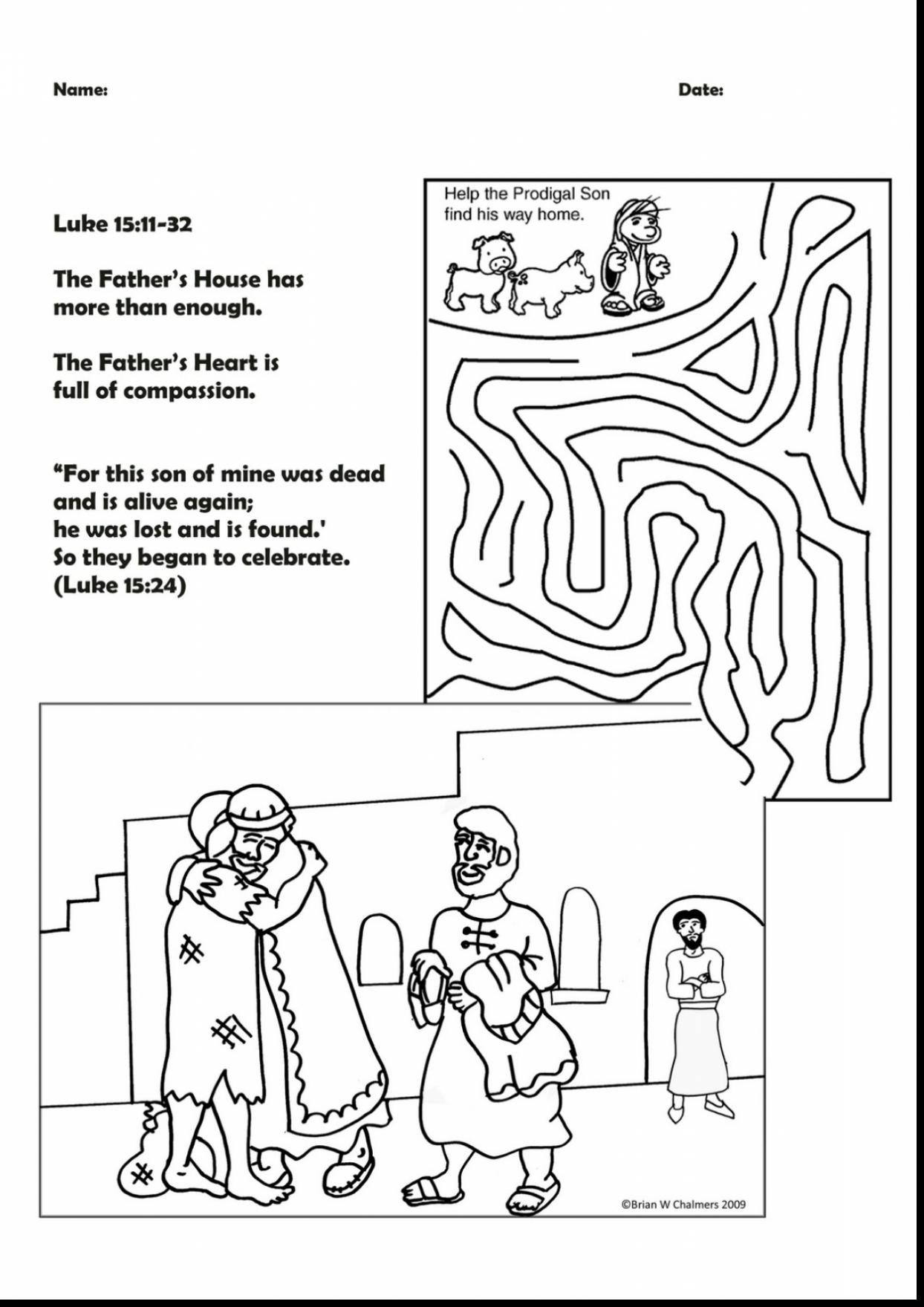 30 Prodigal Son Coloring Pages Gallery
