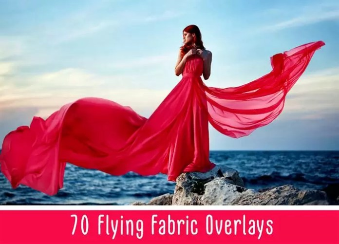 Flying Fabric PNG Overlays