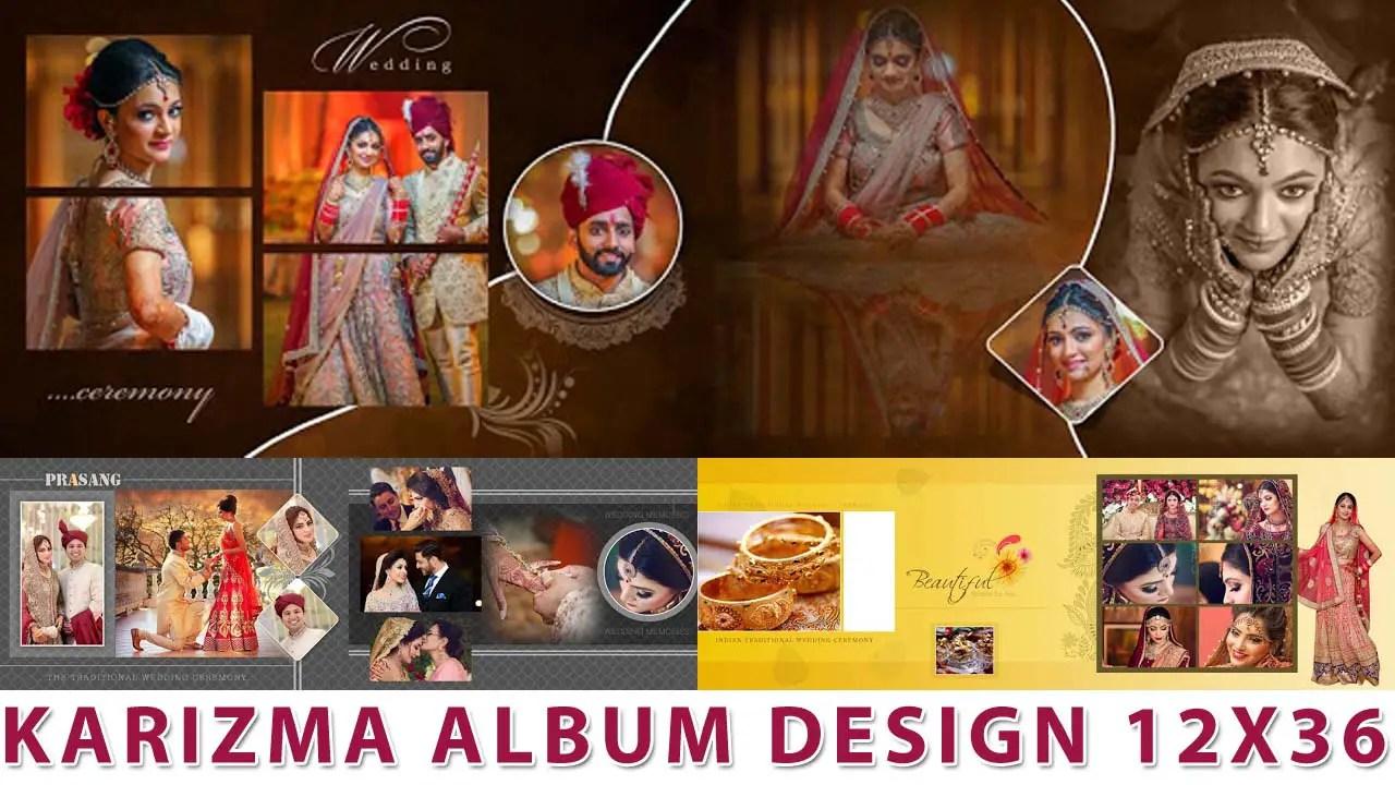 Karizma Album Design 12x36 Psd Templates Collection Luckystudio4u