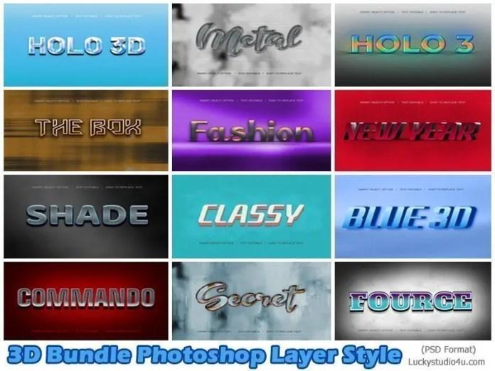 3D Bundle Photoshop Layer Style