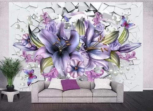 Animals And Lilies Wall Decors 3D Models Templates