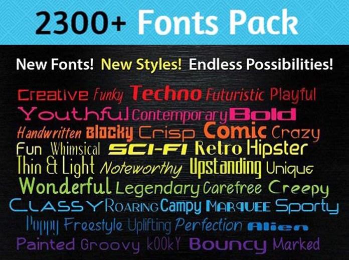 2300+ English Fonts