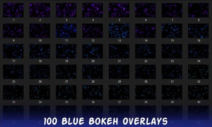 100 Blue Bokeh Overlays Free Download
