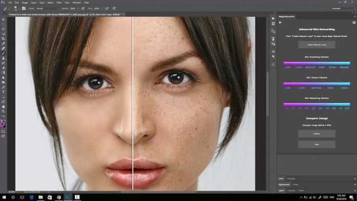 Magic Retouch Pro v4.3 Photoshop Panel