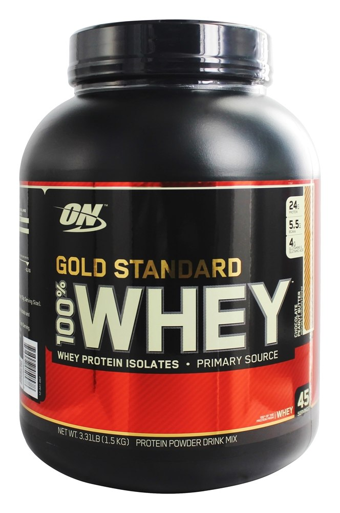 Buy Optimum Nutrition - 100% Whey Gold Standard Protein Chocolate Peanut Butter - 3.31 lbs. at LuckyVitamin.com