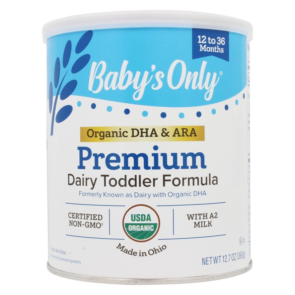 Buy Baby's Only - Organic Dairy Based Iron Fortified Toddler Formula with DHA and ARA - 12.7 oz. at LuckyVitamin.com