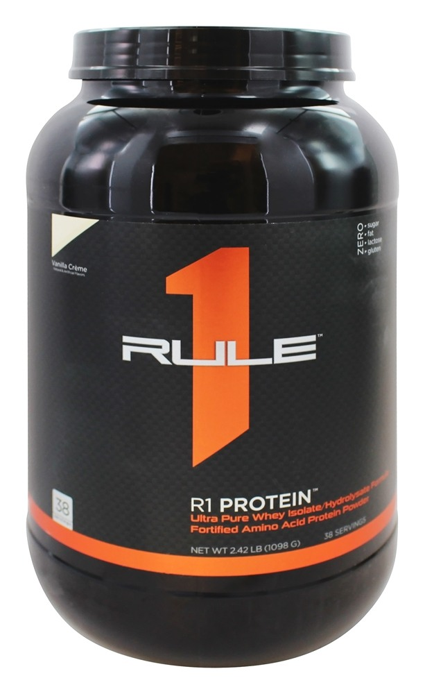 Buy Rule One Proteins - R1 Protein Ultra Pure Whey Isolate/Hydrolysate Formula 38 Servings Vanilla Creme - 2.42 lbs. at LuckyVitamin.com