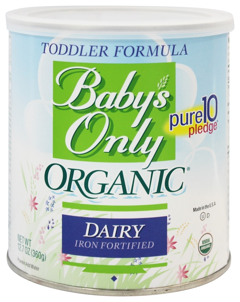 Buy Baby's Only - Organic Dairy Based Iron Fortified Toddler Formula - 12.7 oz. at LuckyVitamin.com