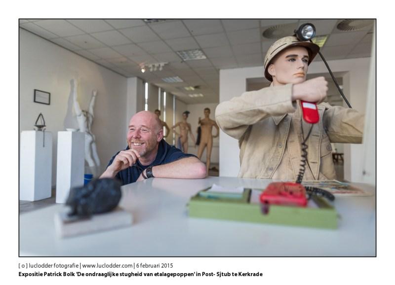 Expositie Patrick Bolk 'De ondraaglijke stugheid van etalagepoppen' in Post- Sjtub te Kerkrade