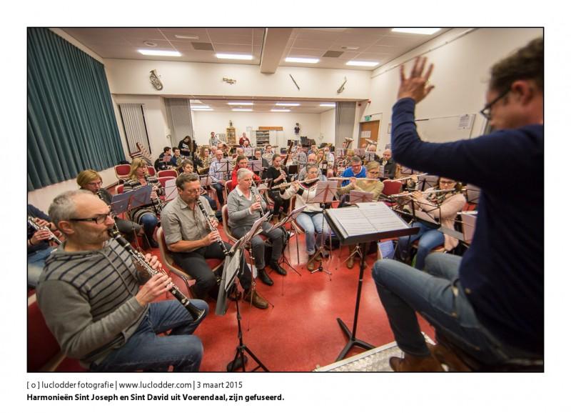 Harmonieën Sint Joseph en Sint David uit Voerendaal, zijn sinds kort gefuseerd tot een harmonie, ze oefenen al samen in de Borenburg te Voerendaal.