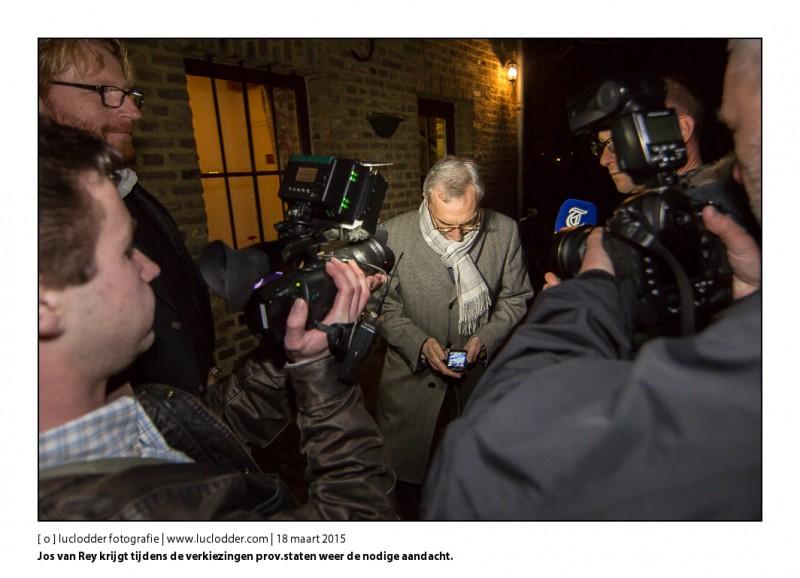 Jos van Rey. De volkspartij Limburg komt in het Kasteel Meezenbroek samen om de uitslag van de verkiezingen provinciale staten af te wachten.