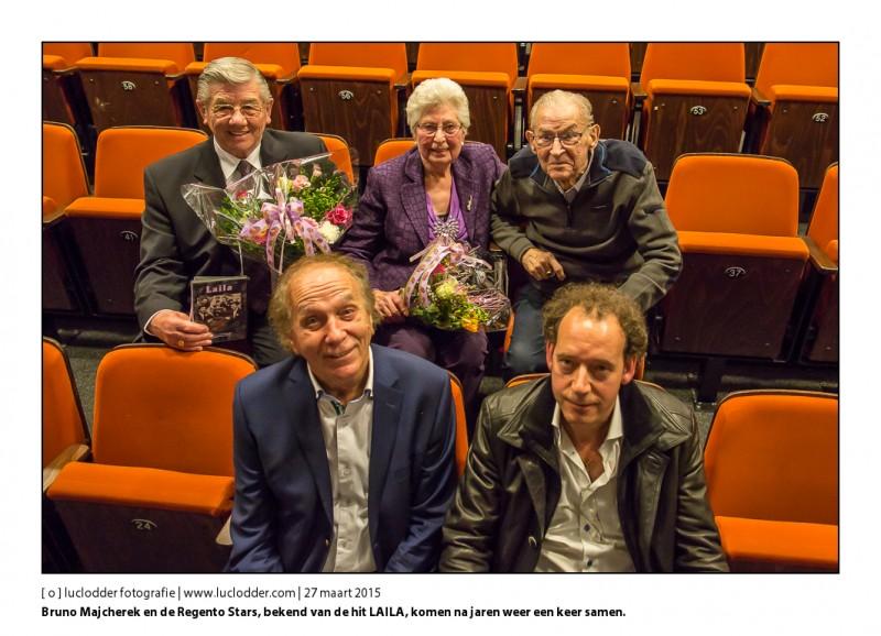 Voorpremière documentaire LAILA in Cultuurhuis Heerlen i.s.m. Hans Heijnen Films en L1. Hoe een onbekend mijnwerkers bandje met een tango ballade een onverwachte hit scoorde en vervolgens met elkaar uitgespeeld raakte.  Bruno Majcherek en de Regento Stars zien elkaar weer voor het eerst na jaren tijdens deze premiere.