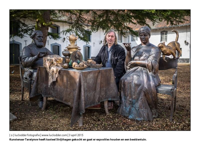 Kunstenaar Taratynov heeft kasteel Strijthagen gekocht en gaat er exposities houden, een beeldentuin maken en laat er anderen werken.
