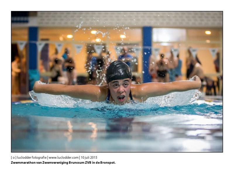 Zwemmarathon van Zwemvereniging Brunssum ZVB in de Bronspot.