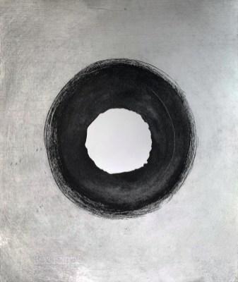 """Erosion (3)"". 2019. Ink on white somerset paper. 36.5 x 31.4 cm."