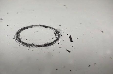 Close up of Wrist Circle drawing.