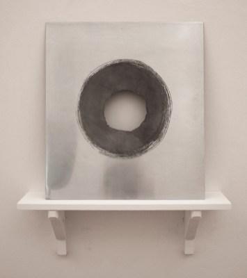 """""""Erosion (3)"""". 2019. Zinc. 37.4 x 33.2 cm."""