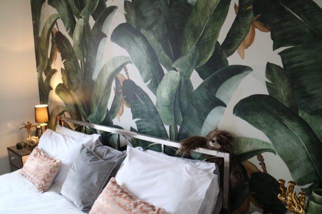 Banana leaf wall mural