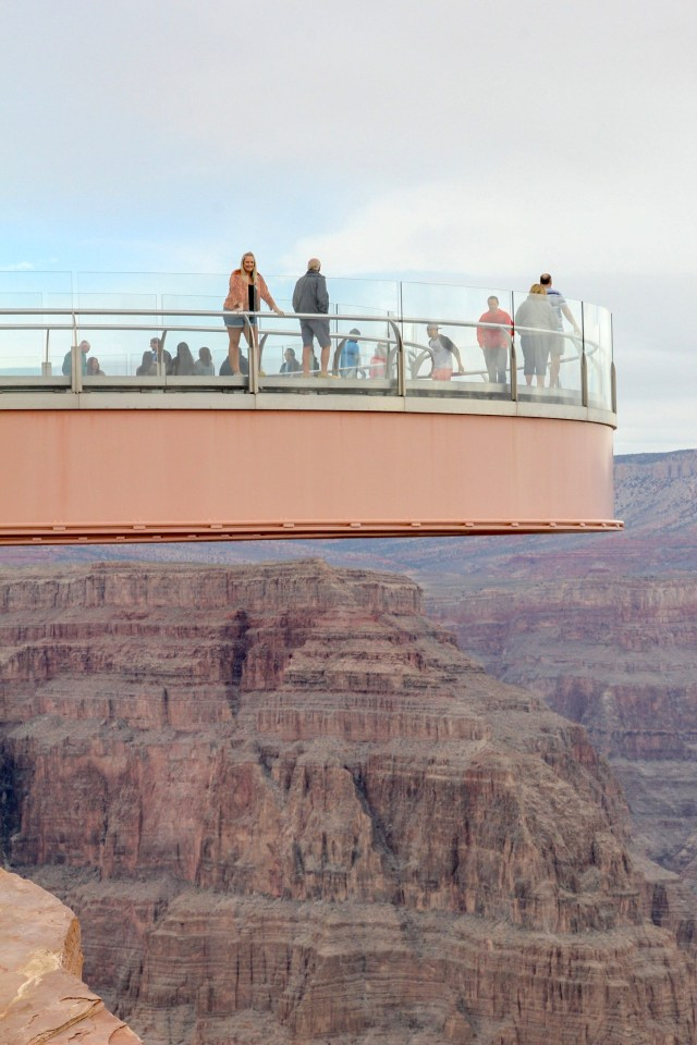 Photo of the skywalk above the Grand Canyon with myself stood on it