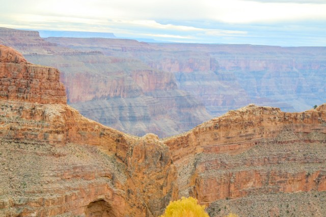 View of a ridge at Eagle point on the Grand Canyon West Rim. So called as the edge looks like an Eagle with its wings spread