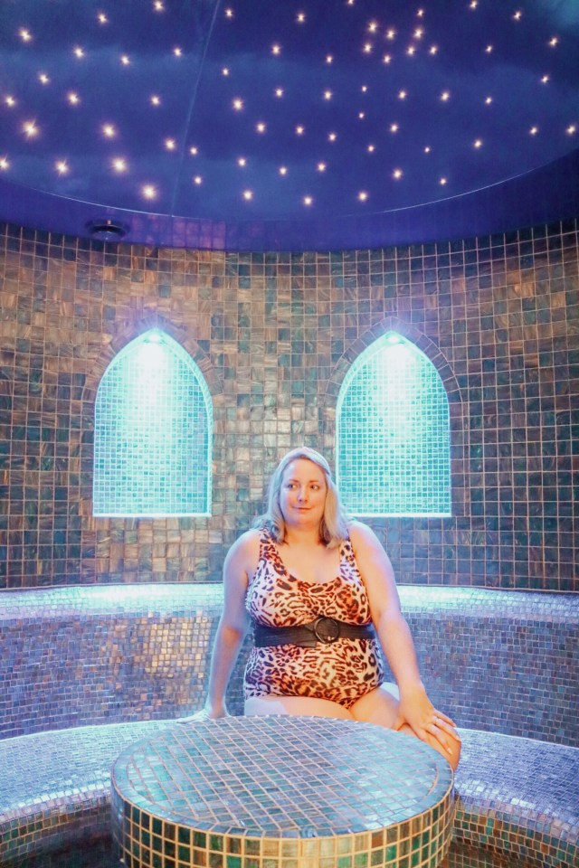 lucy in the steam room