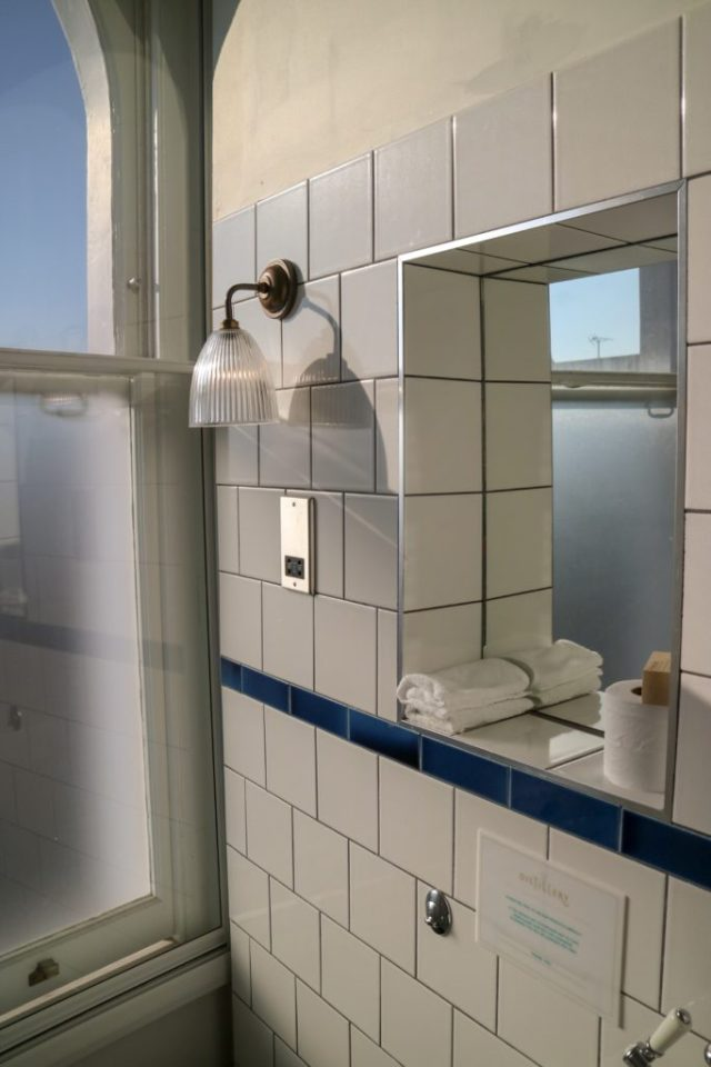 bathroom at The Distillery Hotel at Portobello Road Gin