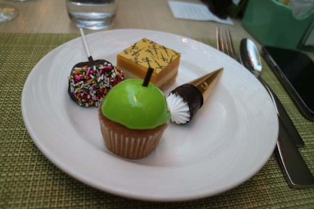 selection of dessert at the buffet at wynn