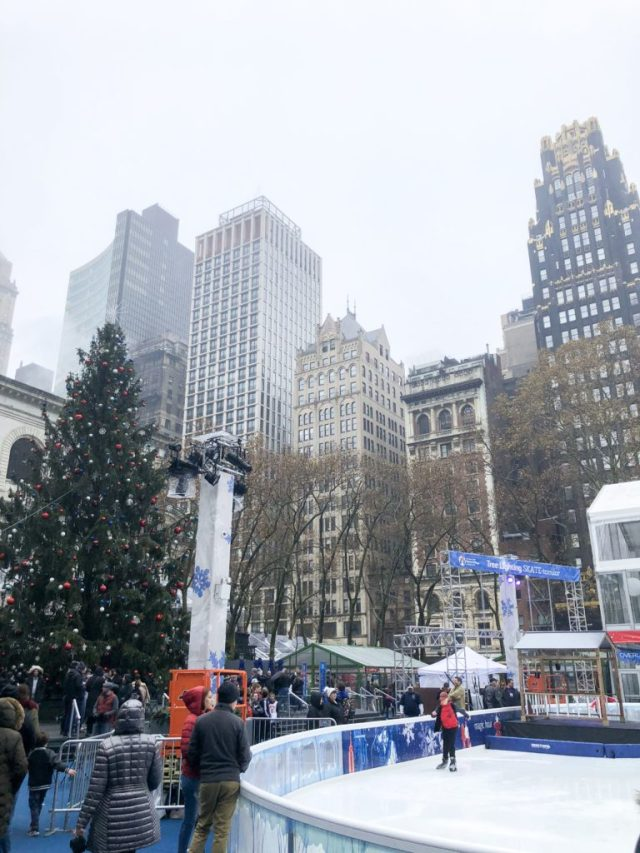 Bryant Park Ice Rink and Christmas Tree