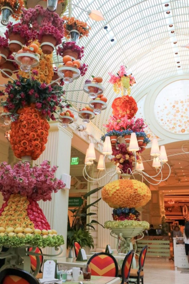 floral displays in the buffet at Wynn