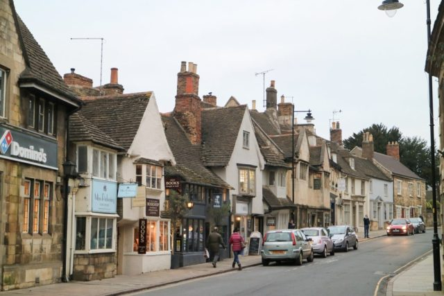 lines of shops in stamford