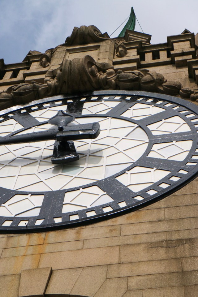 view of the royal liver building clock