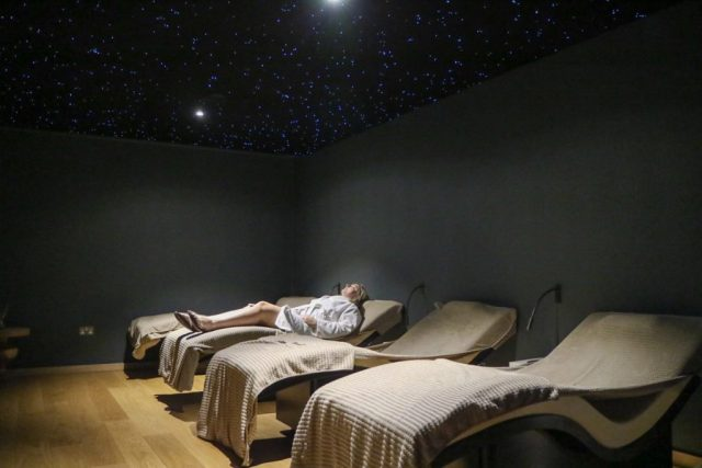 heated beds at rudding park spa