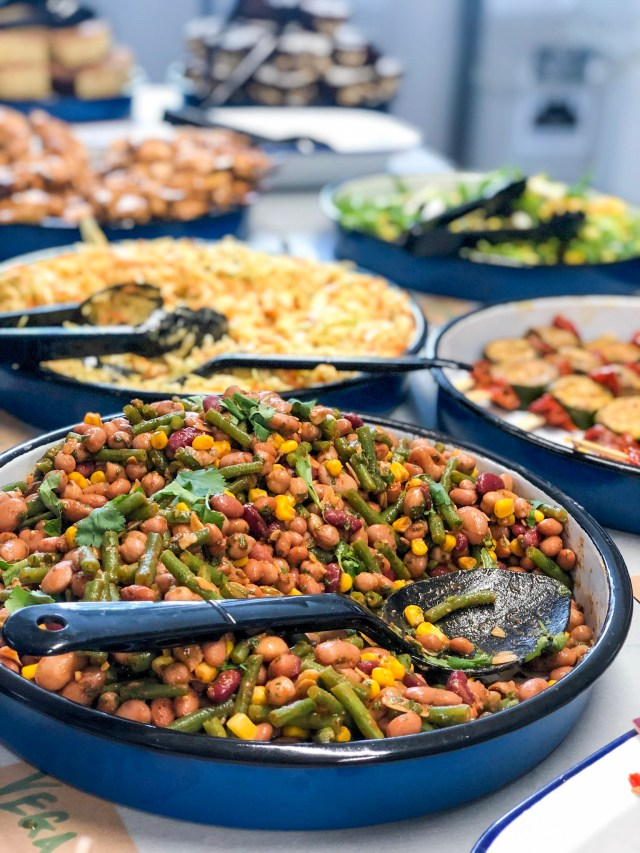 photo of buffet barbados themed food