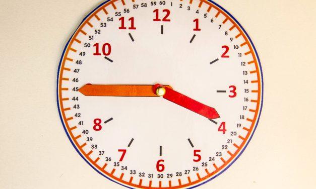 Une horloge pour apprendre l'heure à imprimer
