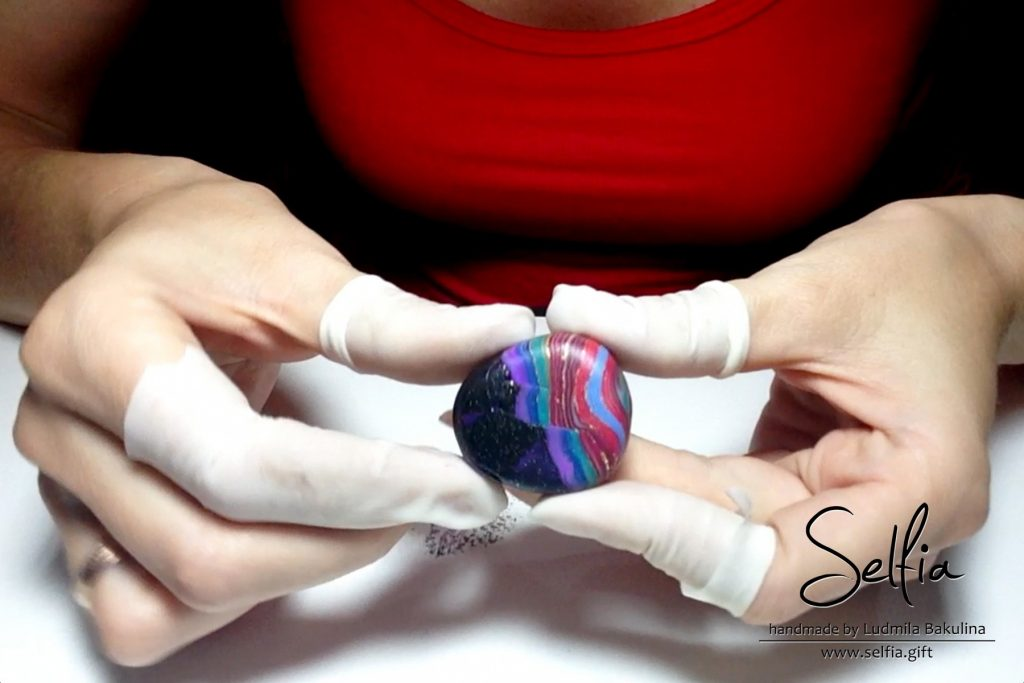 Bright whole ring from polymer clay - photo tutorial 11
