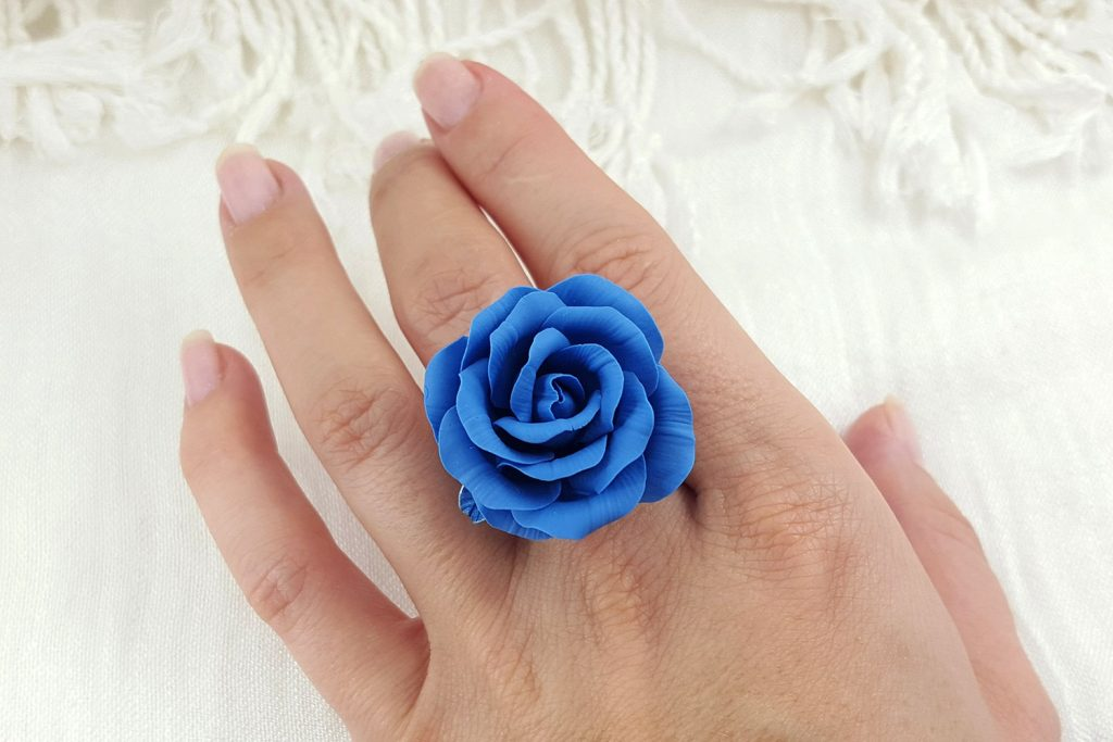 Realistic Rose from Polymer Clay 32