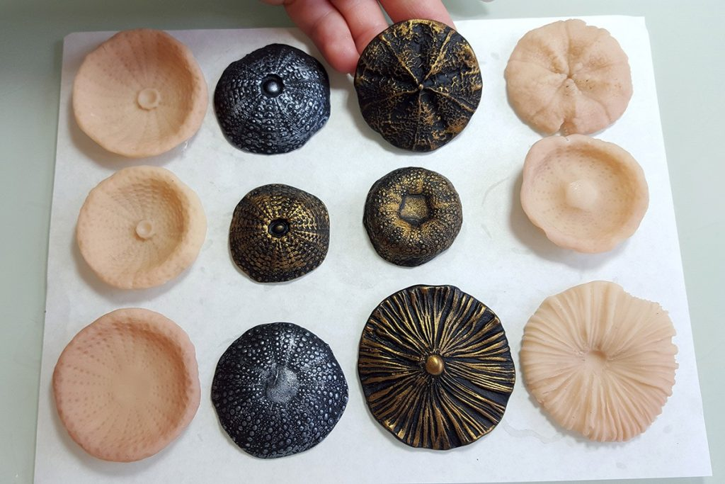 How to make different textured sheets using Mould Makers Sculpey and natural things 5