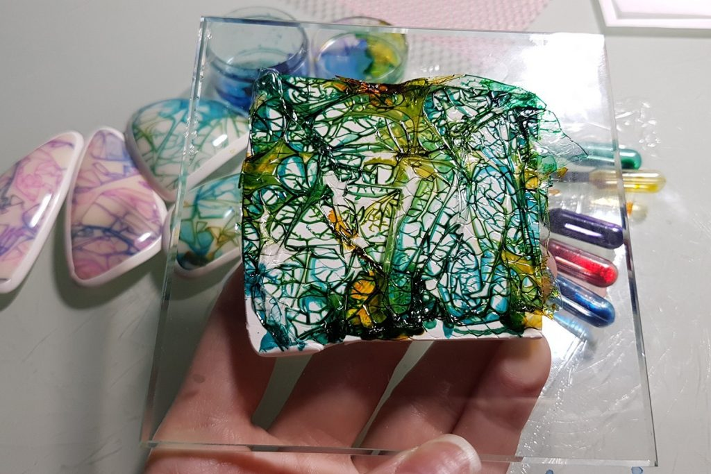 Alcohol Inks and Foil. On my table today 5