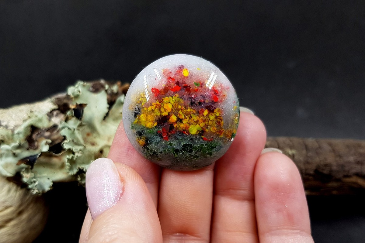 Faux Moss Agate Gemstone Cabochons 8