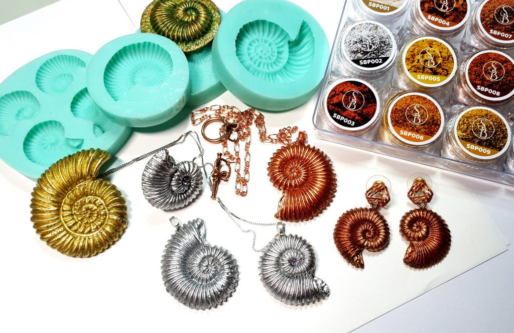 Product review: Molds&Powders Review. Jewelry with ammonites 7