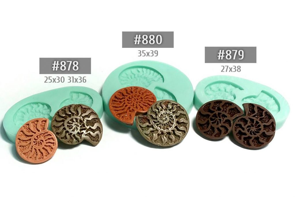 How to use Pyrite Ammonites silicone molds from polymer clay 1